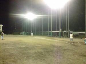 ソフトボール練習試合の様子1