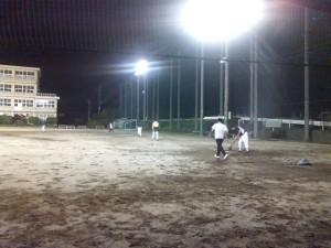 ソフトボールの練習の活動の様子1