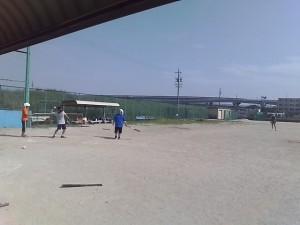 ソフトボールの試合の活動の様子1