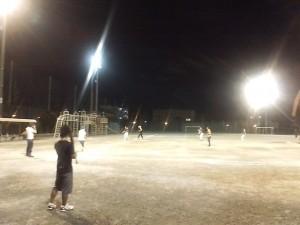 ソフトボールの練習試合の活動の様子1