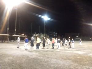 ソフトボールの練習試合の活動の様子2